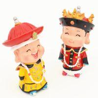 故宫旅游纪念品皇帝皇后小泥人家居装饰工艺品小摆件礼品实用创意图片