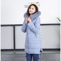 2018广东冬季新款韩版休闲棉服 中长款加厚棉衣气质修身显瘦外套潮