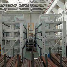 山东钢管货架 管材存取方便快捷 伸缩悬臂式货架 厂家直销