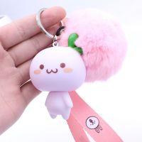 韩国可爱汽车小钥匙扣饰品女创意情侣卡通毛绒钥匙链包包挂件礼物