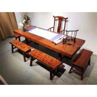 厂家直销实木大板茶桌中式茶台仿古功夫茶几复古茶海现代简约办公桌餐桌