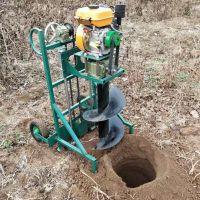 带架子操作省力 钻头回旋挖坑机地钻机 启航地钻打洞机价格
