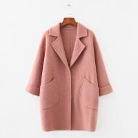 新款韩版学院风可爱甜美中长款羊毛妮子外套羊绒毛呢大衣气质外套批发