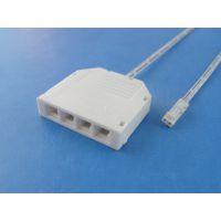 LED橱柜灯分线盒 1拖4低压灯带灯条接线盒 杜邦分线器 厂家直销