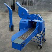 新型高喷式铡草机 养殖场饲料切草机 大型青贮铡草粉碎机