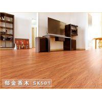 佛山会一 pvc地板免胶地板招商 耐磨直销PVC地板加盟 塑胶地板 家用防水卧室地板