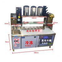 哪里有不锈钢操作台耐腐蚀 方便售卖饮料,制冷速度快 冷藏柜工作台怎么卖【技术培训免费】