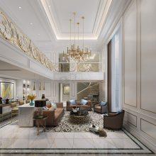 璧山专业的别墅装修公司-茅来山居联排户型改造欧式设计方案效果图