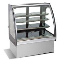 劲力SG480FC不锈钢圆弧玻璃蛋糕展示柜冷藏陈列柜厨房设备工程
