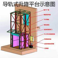 鸿懋SJD2-4导轨式液压升降平台 SJY0.5-10移动剪叉式升降机 GTJZ10全自行走高空作业