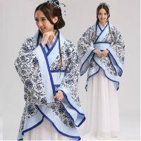 新款古装曲裾写真改良演出服装 唐装汉服古代成年汉服女表演出服