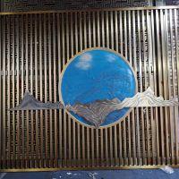 林方不锈钢专业加工:中式不锈钢屏风,可电镀或水镀,服务与质量优良