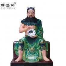河南南阳医王佛像神农大人图片三皇始祖 伏羲大帝雕塑轩辕黄帝神像道教用品
