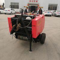 太原小麦秸秆圆捆捡拾打捆机 小型拖拉机牵引式捡拾打捆机