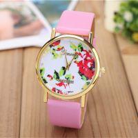GENEVA日内瓦时尚女士手表 速卖通 EBAY 热销玫瑰花朵女士表