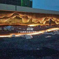 商贸城项目高低浮动圆弧波浪铝方通'灯光搭配'让您享受美的风景
