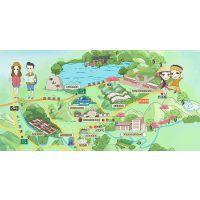 手绘旅游攻略地图|插画|商业插画