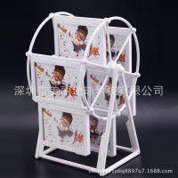 相框摆台挂墙相片框欧式照片框创意婚纱照画框5寸摩天轮精美相框