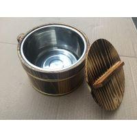 厂家直销 木桶饭 餐桌小木桶 小饭桶 盛饭小饭桶 金边木桶