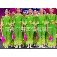 新款秧歌舞蹈服茉莉花民族演出服装出彩中国人表演服开场舞蹈服装