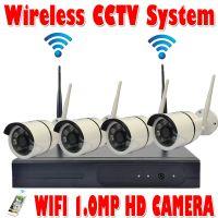 无线监控设备套装 camera kit wifi 4ch 无线监控系统 IP CAMERA