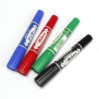 日本banma记号笔MO-150大双头油性马克笔大粗笔红蓝黑重点箱头笔