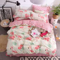 拼多多外贸工厂直供活性印花仿棉床单被套枕套床笠斜纹磨毛四件套