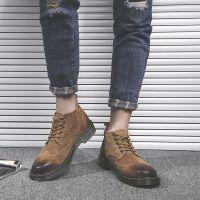 鑫意达韩版潮流工装皮鞋男士休闲短靴马丁靴子一件代发型号6700-B