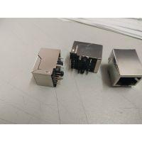 模块RJ45网络接口带屏蔽扁针镀金6U内置1000M滤波器纬力