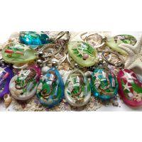 长隆海洋王国 热销工艺品礼品 贝壳海星琥珀钥匙扣 小沙漏工艺品
