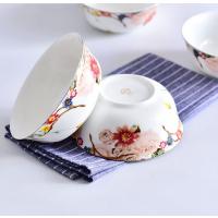 唐山瓷亿美 批发陶瓷碗盘碟 家用汤碗骨质瓷6寸面碗酒店礼品金钟碗定制加logo