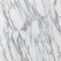 佛山仿大理石纹PVC石塑地板 酒店大堂塑胶地砖水泥浅灰白色地板胶