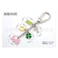 欧美大牌包挂件定制 女士礼品包配件 饰品挂件 猫眼水晶钥匙扣圈