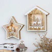 北欧ins儿童房间装饰品创意家居卧室墙壁木质挂件墙面上挂饰墙饰