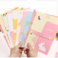 韩国文具 学生用品 韩版信纸套装 NJ-001-49 卡通A5信封套装