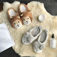 卡通棉拖鞋情侣男女狮子羊可爱毛绒保暖居家拖鞋室内地板韩国秋冬
