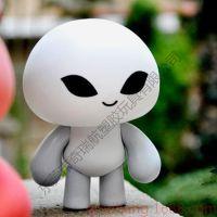 厂家搪胶公仔定制 塑胶卡通吉祥物 注塑可爱外星人公仔 来图定制