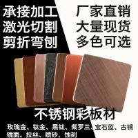 201拉丝红古铜装饰薄板现货直销 不锈钢彩色钢板厂家直销佛山