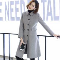 直播卖什么好 毛呢外套 短款 韩版女装 加厚双排扣呢子 女大衣女士风衣