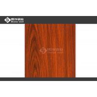 304不锈钢热红橡木纹 哑光木色钢板工艺 专业热转印加工中心