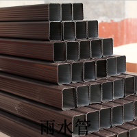 南京别睡外墙排水安装 德峰专供南京雨水管建材市场 方形雨水排水管