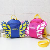幼儿园书包儿童包1-3岁男女童双肩包 可爱卡通蝴蝶宝宝防走失背包