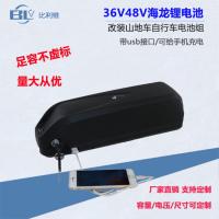 深圳比利维48V10ah电动自行车海龙1号带usb改装山地助力车18650动力锂电池厂家