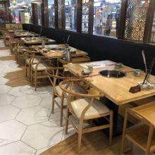 绍兴火锅店家具,火锅店餐桌椅子组合实拍效果