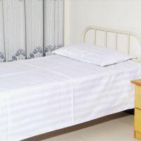 批发医用床单被罩三件套纯棉缎条养老院颐养院专用床单三件套厂家