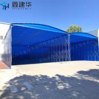 杭垓镇伸缩雨棚布折叠透明 活动帐篷房 停车场钢结构雨蓬造价