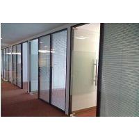 玻璃隔断 办公室隔断 铝合金高隔断 单玻隔墙 双玻百叶隔断墙定制
