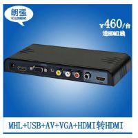 HDMI切换器转换器LKV391MINI音视频转换器三进一出 大量现货批发