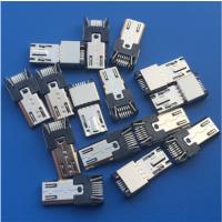 三星夹板式公头 MICRO 11P插头 带PCB板 黑胶有弹 PCB-创粤