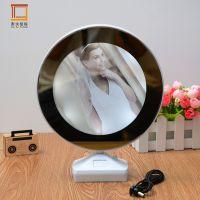 新款创意相框热销 多功能带灯相框led塑料相框 创意魔镜相框摆台